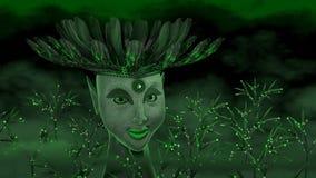 Grön gudinna Royaltyfria Bilder