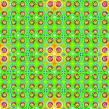 Grön gul sömlös modell stock illustrationer