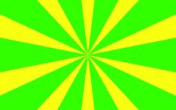 Grön guling rays bakgrundsbild Royaltyfri Foto