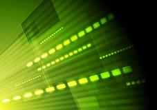 Grön högteknologisk vektorrörelsebakgrund Arkivfoton