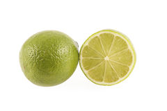 grön half limefruktyellow Arkivfoton