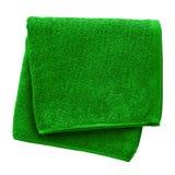 grön handduk arkivfoto