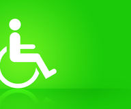 Grön handikappbakgrund Royaltyfria Bilder