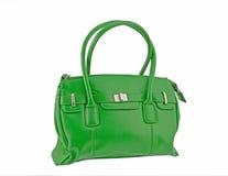 grön handväska Royaltyfri Fotografi