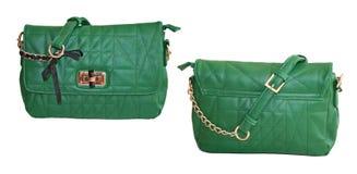 grön handväska Royaltyfri Bild