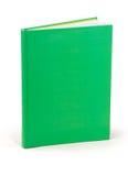 Grön hardcoverbok Fotografering för Bildbyråer