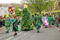 grön hastingsstålar för festival royaltyfri fotografi