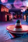 grön hatt isolerad mexikansk sombrero Fotografering för Bildbyråer
