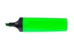 Grön highlighter arkivfoton