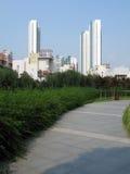 grön highrise för miljö Arkivbilder
