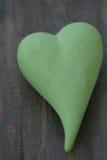 grön hjärta Arkivfoton