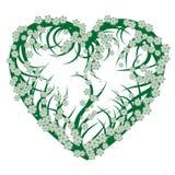 grön hjärta Arkivbilder