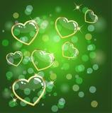 grön hjärta för bakgrund Royaltyfri Bild