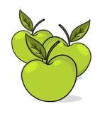 grön illustration för äpplen Royaltyfria Foton