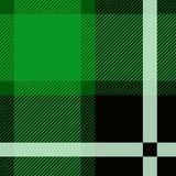 Grön illustration för Stewart Tartan Seamless modelldesign stock illustrationer