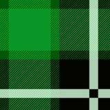 Grön illustration för Stewart Tartan Seamless modelldesign Arkivbilder