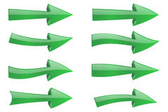 grön illustrationvektor för pilar 3d Stock Illustrationer