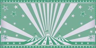 Grön inbjudan för cirkus Arkivbild