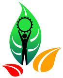 grön industrilogo royaltyfri illustrationer