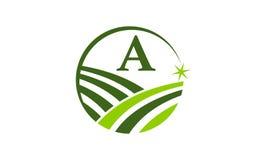 Grön initial A för projektlösningsmitt Arkivfoto