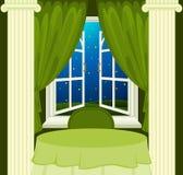 grön inre restaurang Royaltyfri Bild