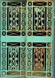 Grön Ironwork arkivfoto