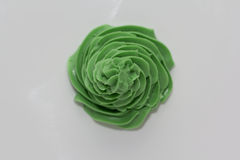 Grön isläggningkräm för virvel Arkivbild
