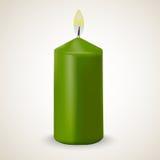 Grön isolerad vektorstearinljus för brand Royaltyfri Fotografi