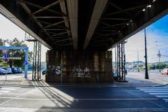 Grön järnväg bro Royaltyfri Fotografi