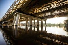 Grön järnväg bro Royaltyfria Bilder