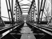 Grön järnväg bro Arkivfoton