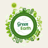 Grön jord Arkivfoto