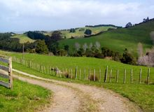 Grön jordbruksmark Royaltyfria Bilder