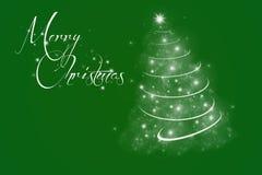 Grön jul Arkivbild