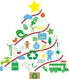 Grön julgran Fotografering för Bildbyråer