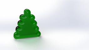 Grön julgran på den vita bakgrunden Royaltyfria Bilder