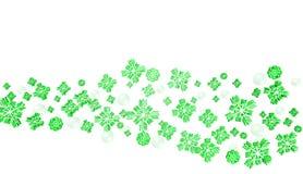 Grön julsnöbakgrund Arkivbilder