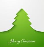 Grön jultreeapplique Royaltyfri Fotografi