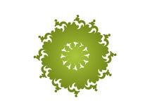 grön kaleidoscope Arkivfoton