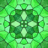 Grön kalejdoskopisk flerfärgad abstrakt modell vektor illustrationer