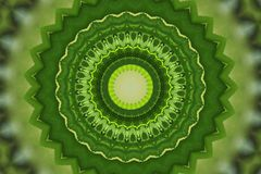 grön kalejdoskopprydnad vektor illustrationer