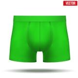 Grön kalsongerresumé för man också vektor för coreldrawillustration Royaltyfria Foton