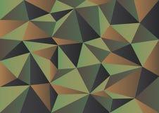 Grön kamouflagepolygonbakgrund Arkivbild