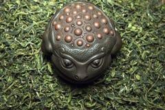 Grön kinesisk tebakgrund inget royaltyfria foton