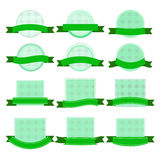 Grön klistermärkesamling - illustration Arkivbild