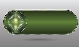 Grön knapp royaltyfri illustrationer