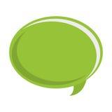 grön konversationbubbla stock illustrationer