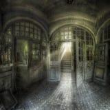 grön korridor för ingång Royaltyfria Foton