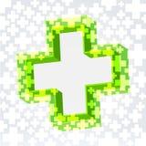 Grön korsbakgrund royaltyfri illustrationer