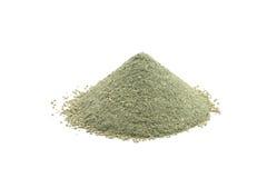 Grön kosmetisk lera för handfull Arkivbild